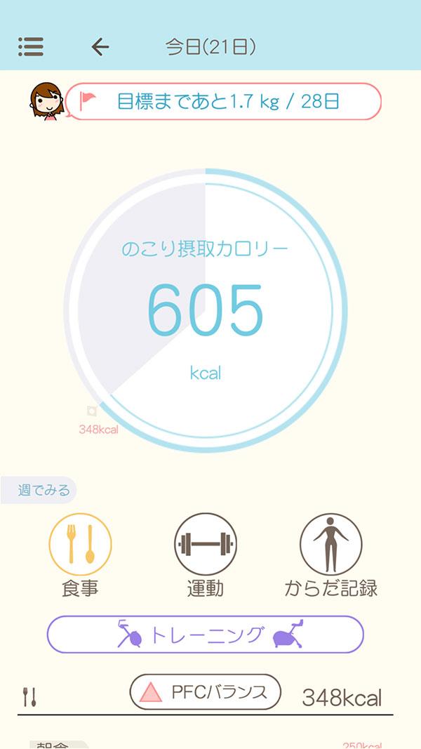 ダイエット アプリ